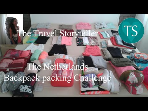 The Travel Storyteller in The Netherlands @ home, backpack packing challenge!