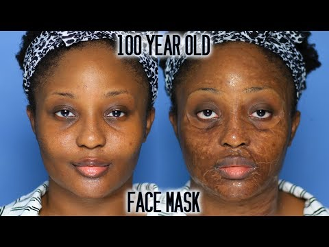 The face mask that made me look 100 years old...