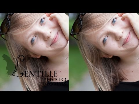 HOW TO GET RID OF DARK CIRCLES IN PHOTOSHOP CC - LENTILLE PHOTO TUTORIALS