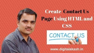 Contact Us Page Design Using HTML and CSS