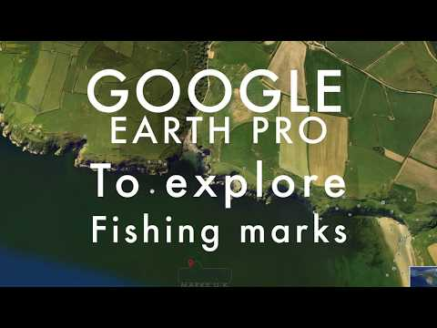 Finding Sea fishing Marks using google earth pro