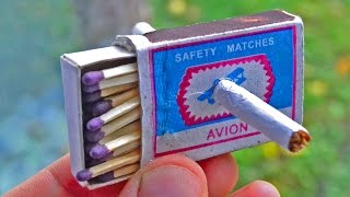 Magic trick with matches and a cigarette