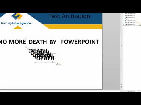 Applying Custom Animation Effects to Text in PowerPoint 2010