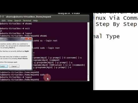 How To Check Which User You Are In Ubuntu Linux Via Command Line Or Terminal Step By Step Tutorial