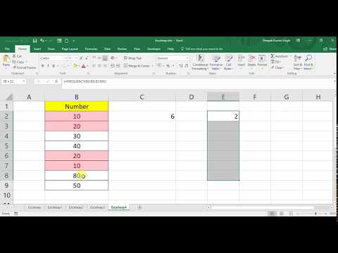 How to Count Unique values of List or Column  in excel