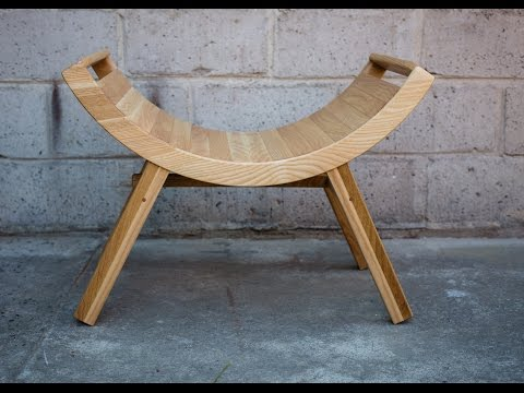 DIY Photography props - custom wooden curved bench / chair -Wygięty taboret / krzesło - fotografia