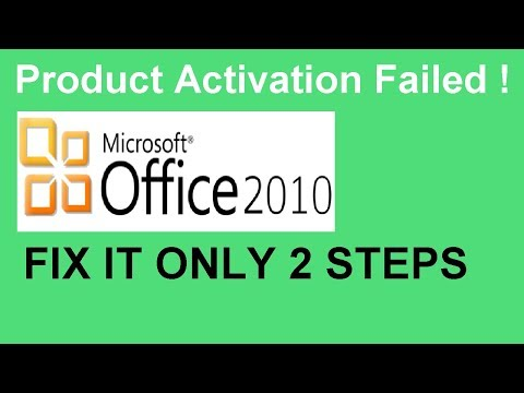 Product activation failed Office 2010   100% working Method (2018)