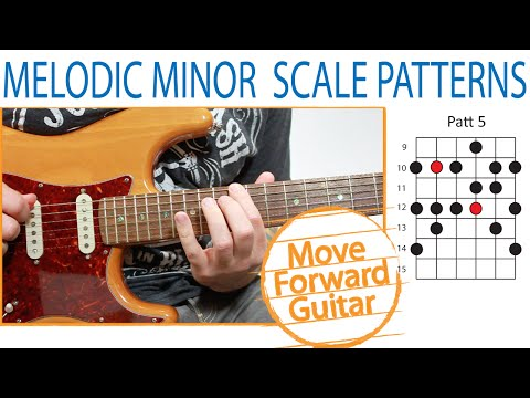 Guitar Scales - Melodic Minor Patterns (Positions) - 2/3 Notes per String