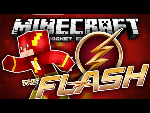 YOU ARE THE FLASH!!! - The Flash Superhero Mod for MCPE!!! - Minecraft PE (Pocket Edition)