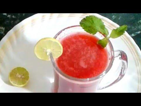 गर्मी का खास ड्रिंक तरबूज का शरबत बनाएं सिर्फ 2 मिनट में।  Watermelon Juice Recipe in Hindi by Rubi
