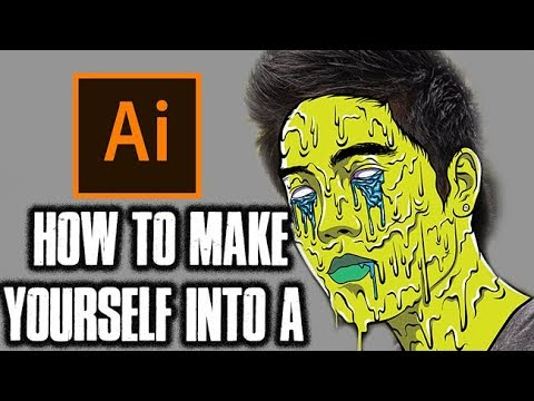 How To Make Yourself Into A Zombie Grime!- Step By Step / RYAN HIGA Tutorial ( ADOBE ILLUSTRATOR )