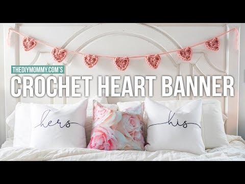 Chunky Crochet Heart Banner Tutorial | The DIY Mommy