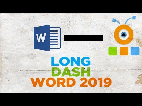 How to Put a Long Dash in Word 2019   How to Insert a Long Dash in Word 2019