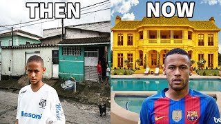 10 Footballers Houses - Then and Now - Ronaldo, Neymar, Messi, ...etc