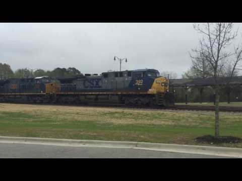 Amtrak and CSX trains Fayetteville, NC