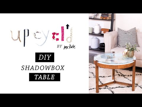 Upcycl'd: DIY Shadowbox Table   Furniture Makeover   Home Decor   Mr Kate