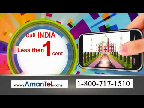 Amantel.com flat rate plan to call India @ 1cents/min
