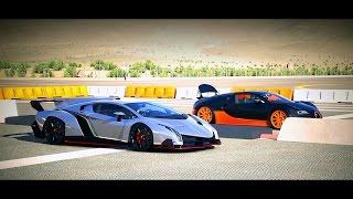 Forza 5 Drag Race: Lamborghini Veneno vs. Bugatti Veyron SS