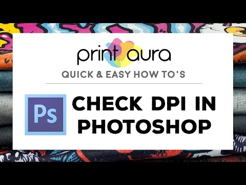How to check artwork resolution in Photoshop CC