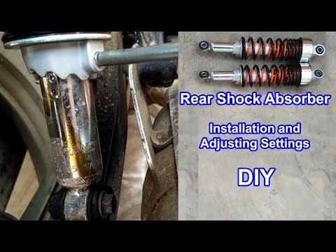 Rear Shock Absorber/ Suspension - Installation and Adjusting Settings - DIY