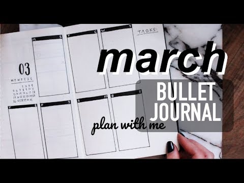March Bullet Journal Plan With Me | Minimalist