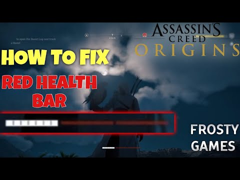 How to FIX RED HEALTH BAR in Assassins Creed Origins (Cursed Weapons)