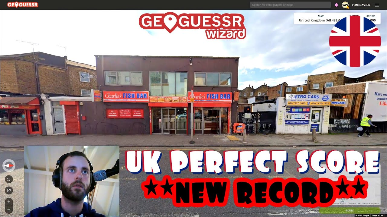 Perfect score on Geoguessr (UK) in precisely 10 MINUTES (new record)