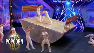 Americas Got Talent 2017 Diavolo High Flying Dangerous Innovative Acrobatic Group Full Audition