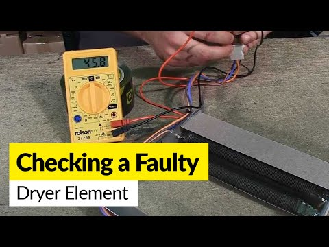 How to check a faulty dryer element using a multimeter