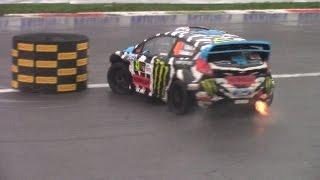 Ken Block vs Valentino Rossi vs Robert Kubica - Donuts Battle Monza Rally Show 2014