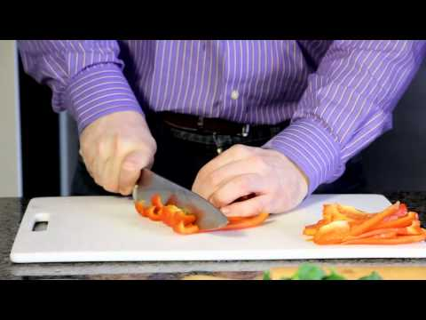 How to Chop, Julienne and Dice Red Pepper - Cooking tip of the day