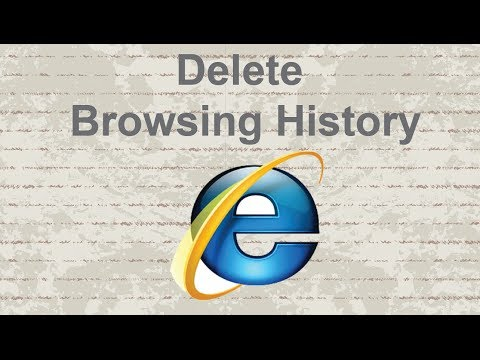 How to delete browsing history, cookies and chace in Internet Explorer