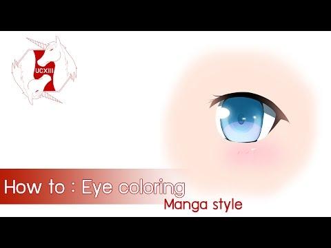[Clip Studio Paint/Manga Studio] How to : Eye coloring [Eng ver.]