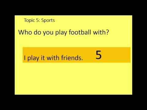 GCSE Oral exam Practice Topic 5: Sports