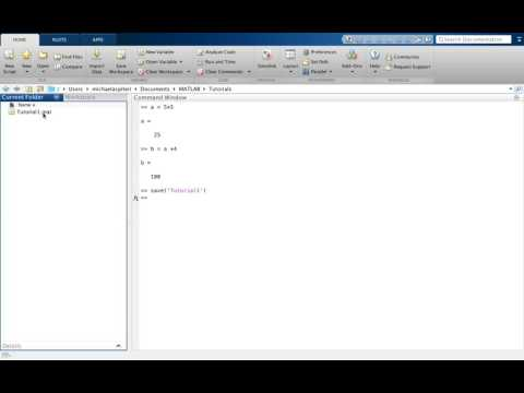 Tutorial1: Introduction to MATLAB for beginners - workspace; current folder; command window