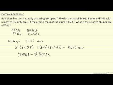 Isotopic Abundance (Example)