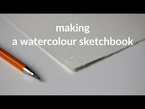 making a watercolour sketchbook