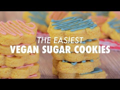 Easiest Vegan Sugar Cookies - Loving It Vegan