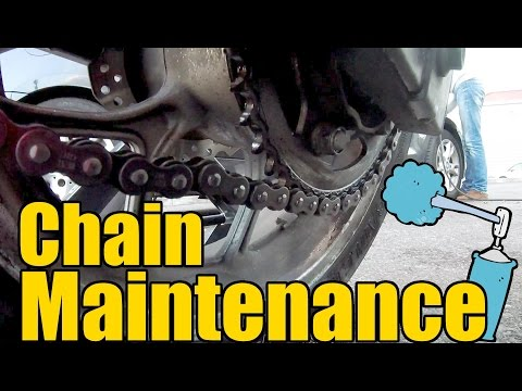 How To Clean & Lubricate Your Motorcycle Chain With No Center Stand