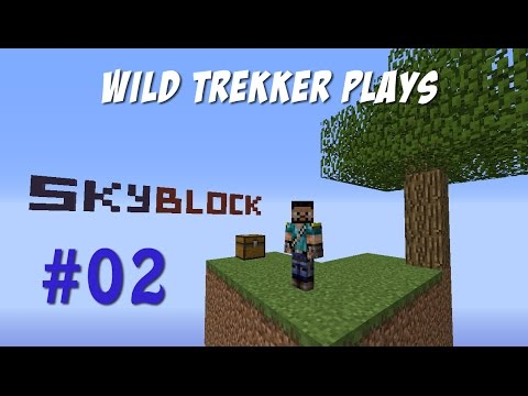 Minecraft [1.8] Skyblock [Ep 02] Creepers and The Nether