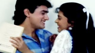 Aamir Khan romancing with Juhi Chawla - Daulat Ki Jung Scene