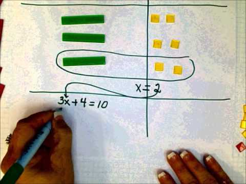 SCC Math 205 More two step equations with Algebra Tiles