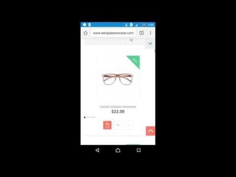 Magento Responsive Theme Mobile View