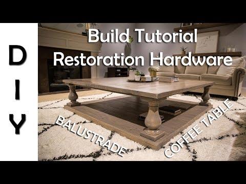 Restoration Hardware Balustrade Coffee Table DIY