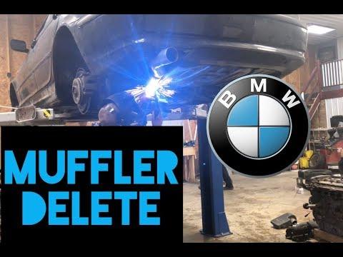 Making the BMW LOUDER!! E46 Muffler Delete
