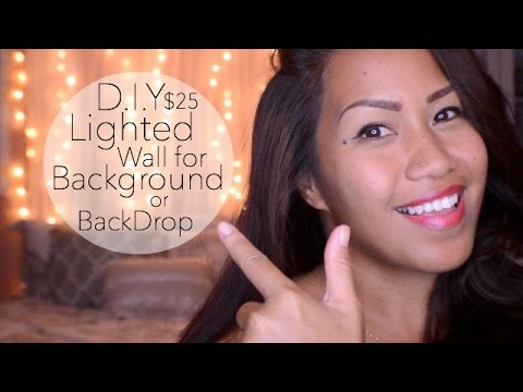 DIY $25 Lighted Wall {Background/BackDrop}