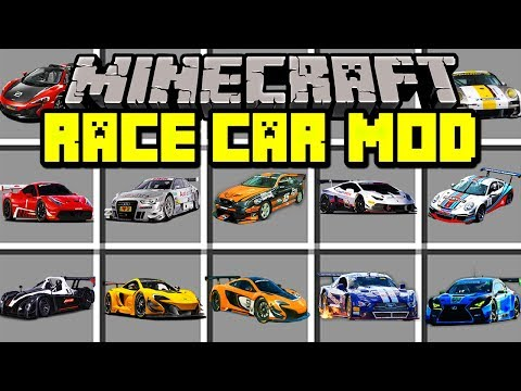Minecraft RACE CAR MOD! | DRIVE AND RACE NEW REALISTIC SUPER CARS! | Modded Mini-Game