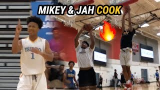 8th Graders Mikey Williams & Jahzare Jackson BALL OUT vs High School Team! MIKEY DROPS 24 🔥