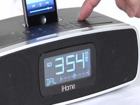 iHome iP90 Dual Alarm Clock Radio for your iPhone/iPod with AM/FM presets