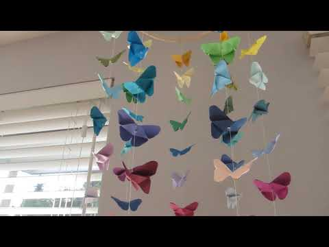 DIY Butterfly Origami Mobile